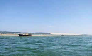 dune du pyla en bateau